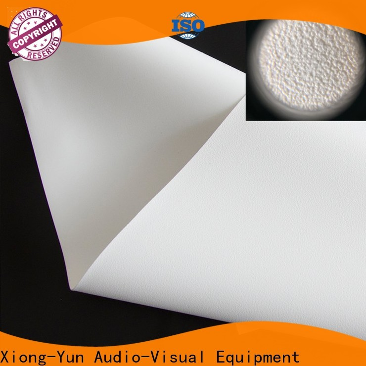 XY Screens durable projector fabric inquire now for fixed frame projection screen