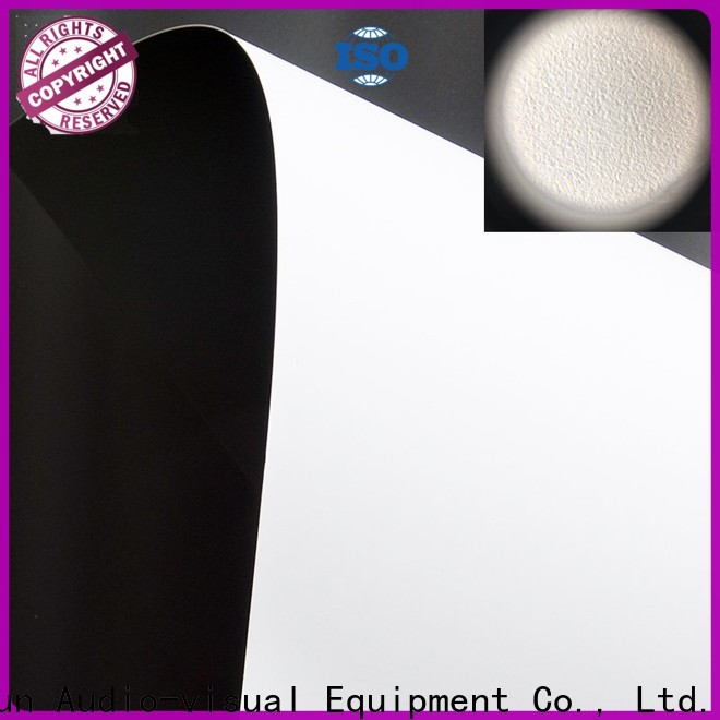 XY Screens front and rear fabric design for fixed frame projection screen