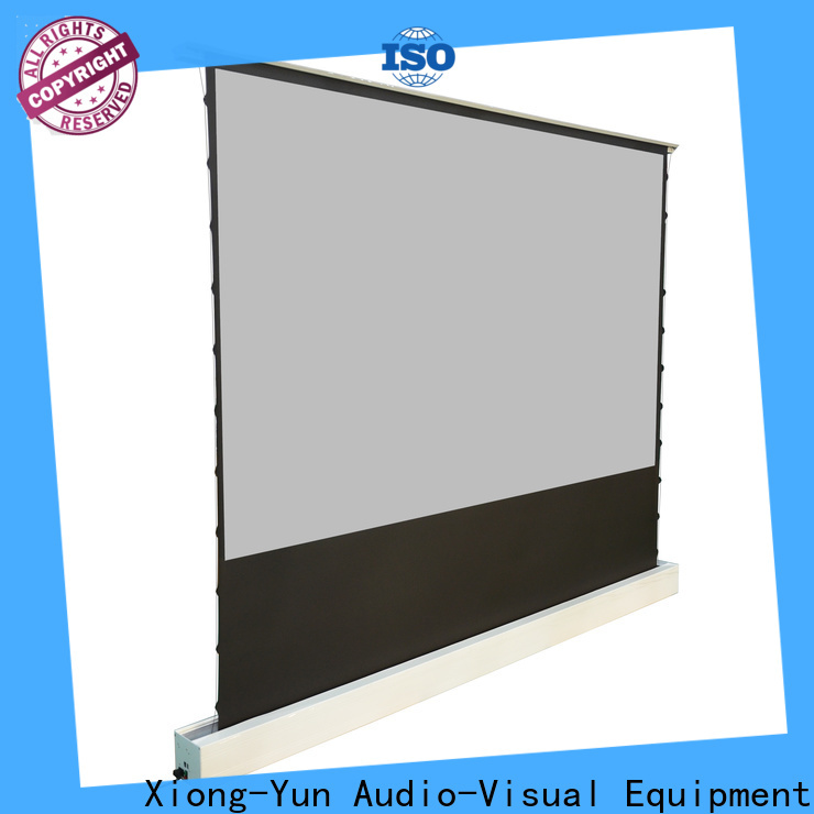 XY Screens white portable pull up projector screen inquire now for indoors
