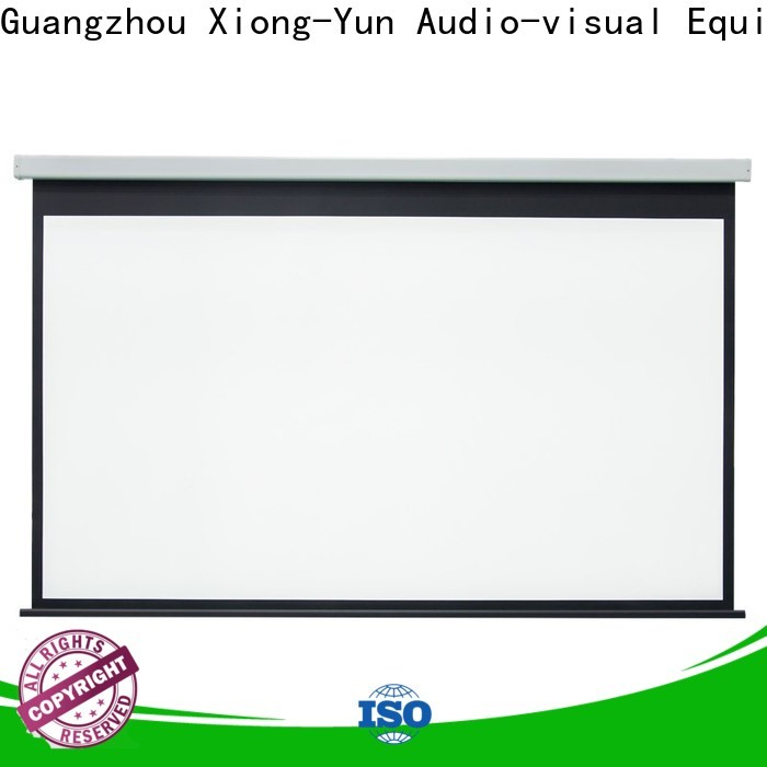 curved Home theater projection screen personalized for rooms