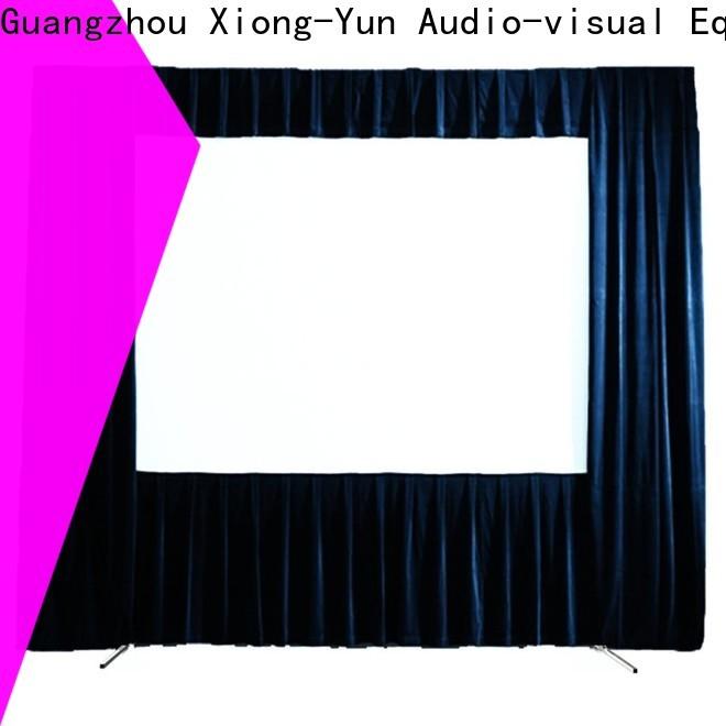 XY Screens outdoor retractable projector screen supplier for park