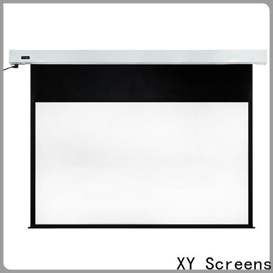 XY Screens motorized projector screen factory price for rooms