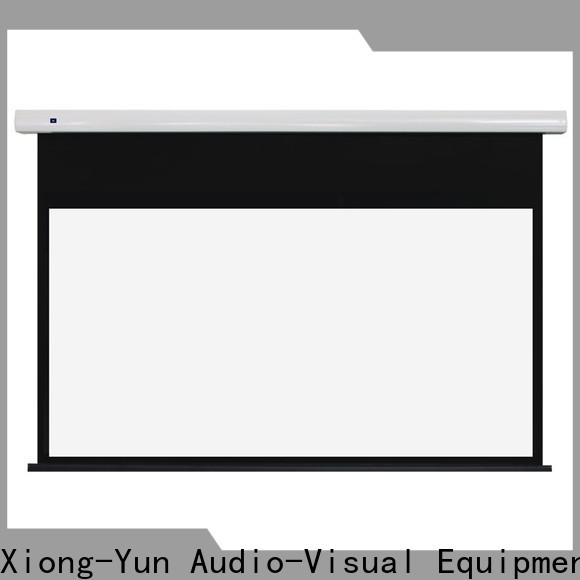 XY Screens manual tab tension screen personalized for living room