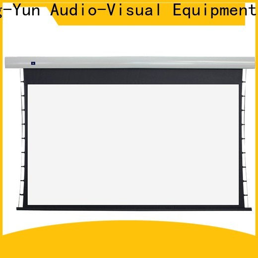 XY Screens intelligent tab tensioned projector screen factory price for living room