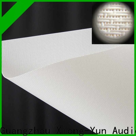 XY Screens acoustic projector screen customized for fixed frame projection screen