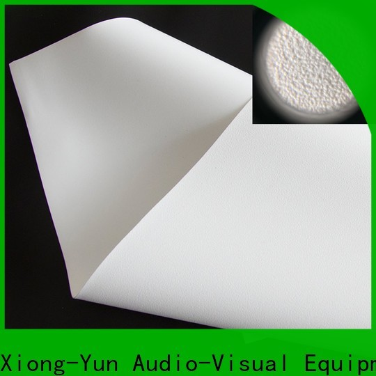 XY Screens front and rear fabric design for thin frame projector screen