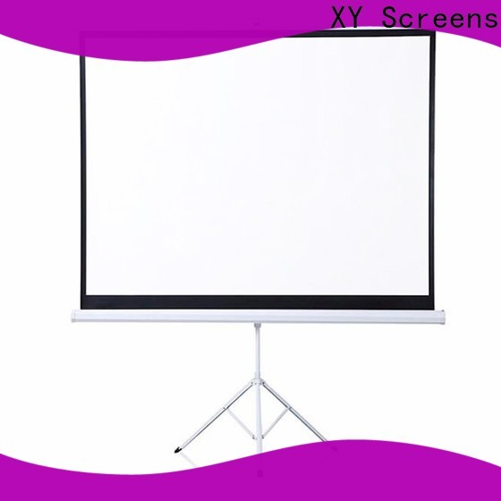 XY Screens stable portable tripod screen personalized for meeting room