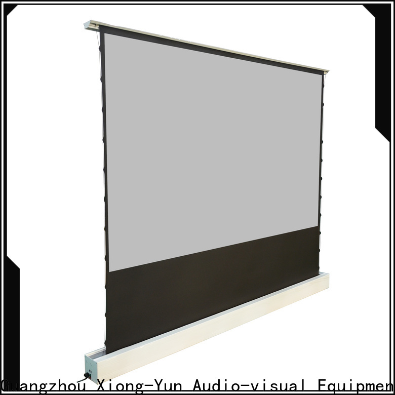 electric floor rising screen design for living room