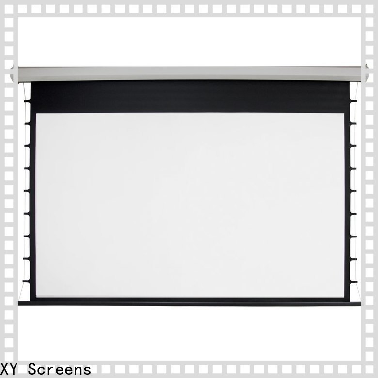XY Screens motorized screens personalized for theater