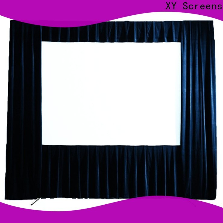XY Screens curved outdoor movie projector factory price for public