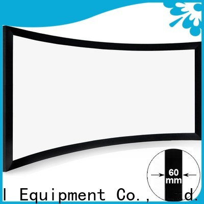 XY Screens curved projector screen personalized for home cinema
