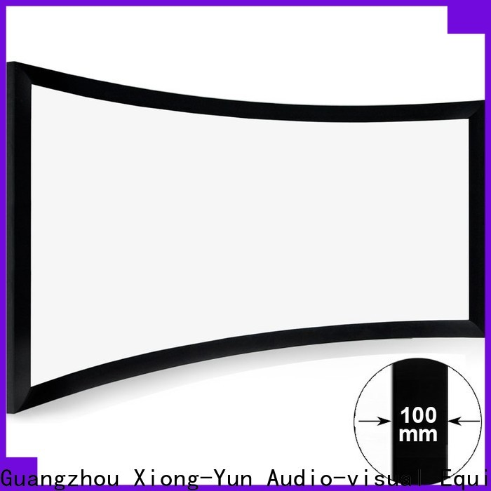 XY Screens slim curved projector screen diy customized for indoors