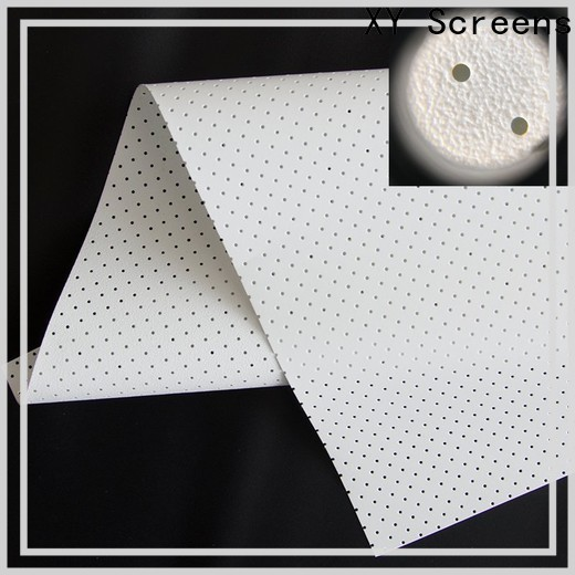 XY Screens acoustic absorbing fabric manufacturer for thin frame projector screen