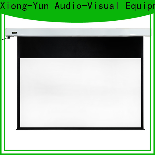 XY Screens retractable Motorized Projection Screen factory price for rooms
