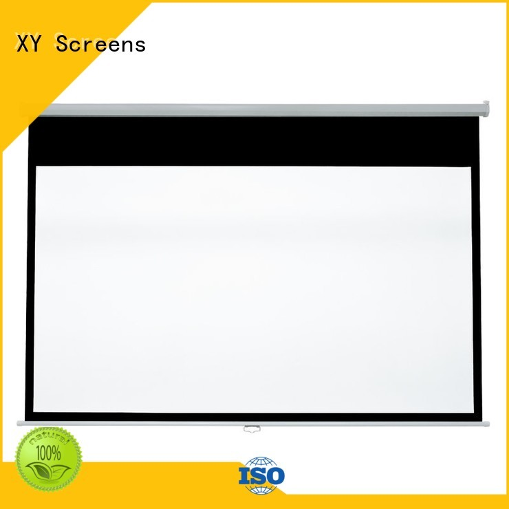 mounting pull down projector screen design for students