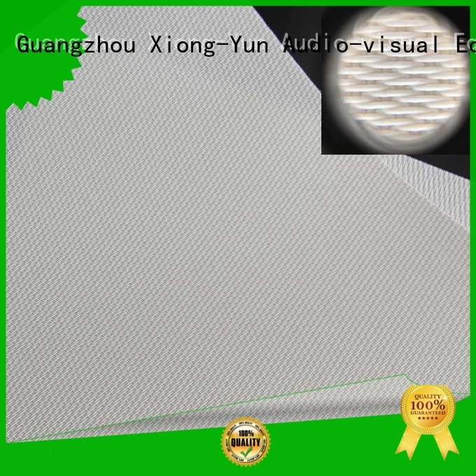 XY Screens acoustically transparent screen material directly sale for thin frame projector screen