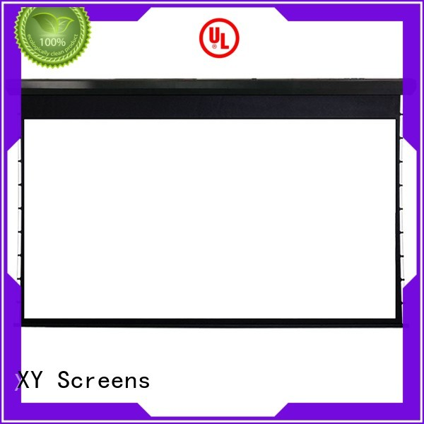 XY Screens motorized home movie projector screen for computer