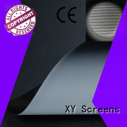XY Screens standard projector screen fabric customized for fixed frame projection screen