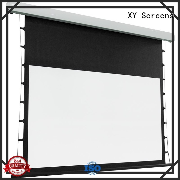 XY Screens light rejecting tab tensioned projector screen supplier for living room