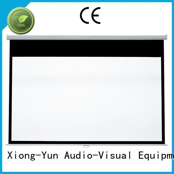XY Screens Brand rsm64 school pull down rear projection screen screen pull
