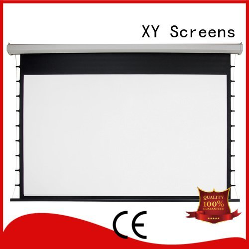 Custom rsc64 Motorized Retractable Projector Screen retractable Electric Drop Down Movie Screen
