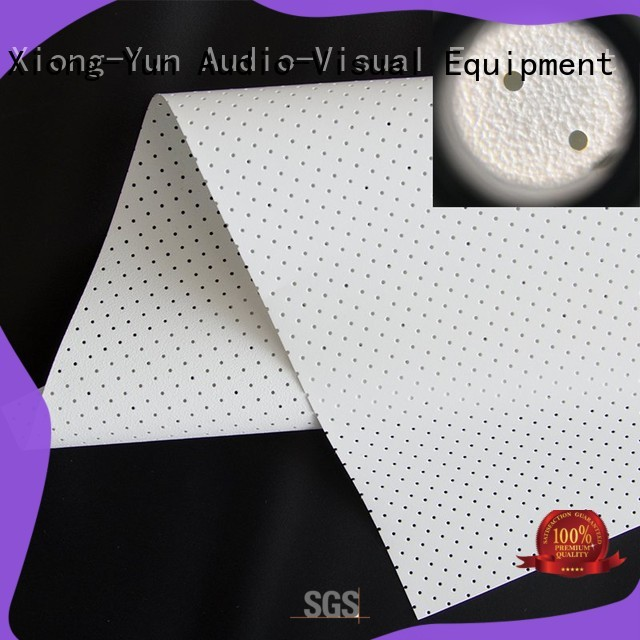 XY Screens acoustically transparent screen material from China for projector screen
