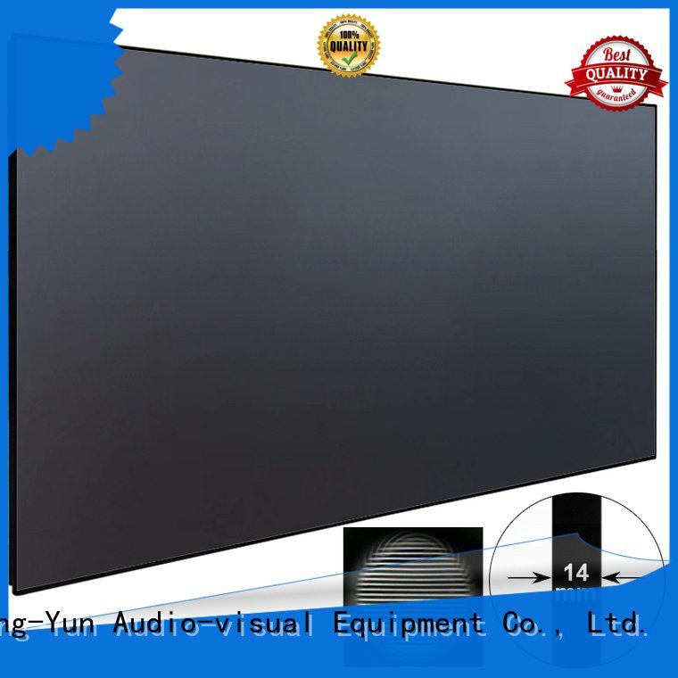 XY Screens Brand ambient frame ultra ultra short throw projector screen
