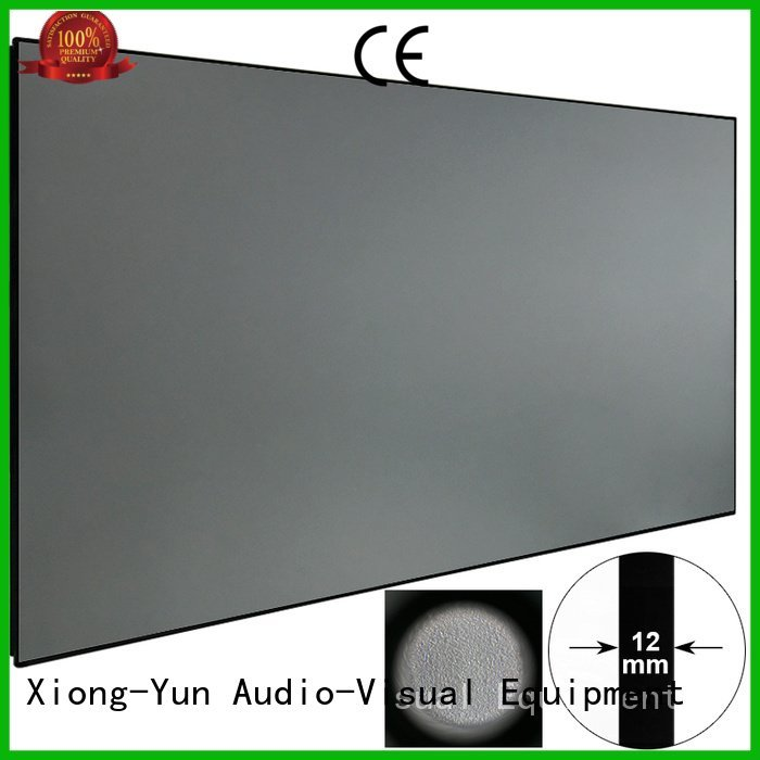 rejecting projector bezel ambient light projector screen XY Screens