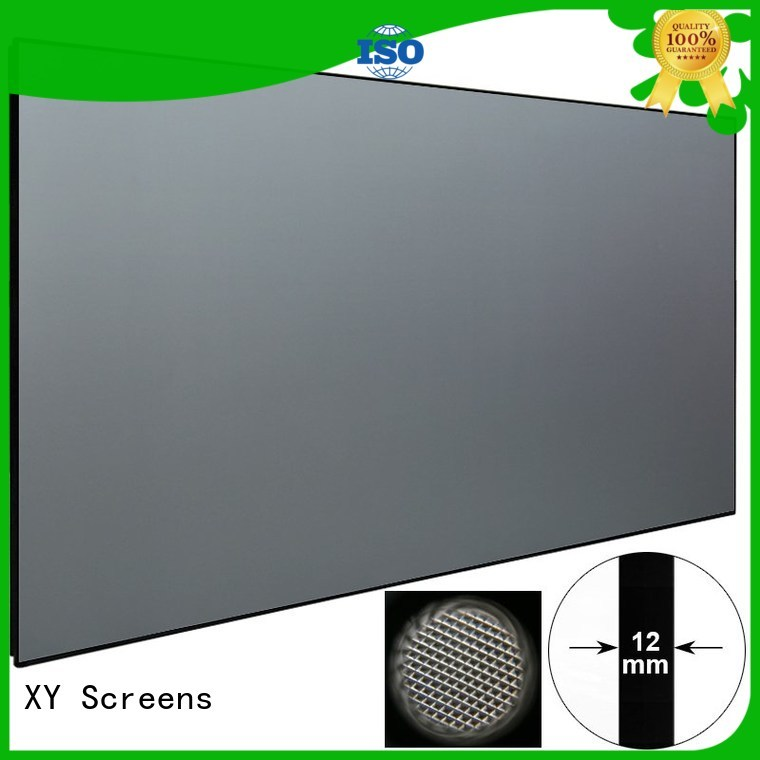 XY Screens small ultra short throw portable projector frame for television