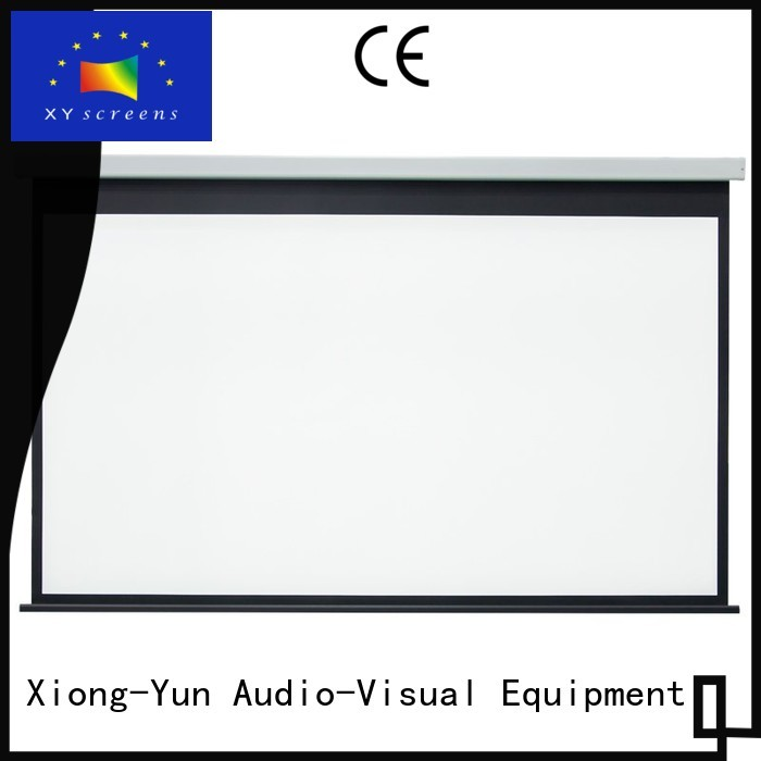 XY Screens stable Motorized Projection Screen supplier for indoors