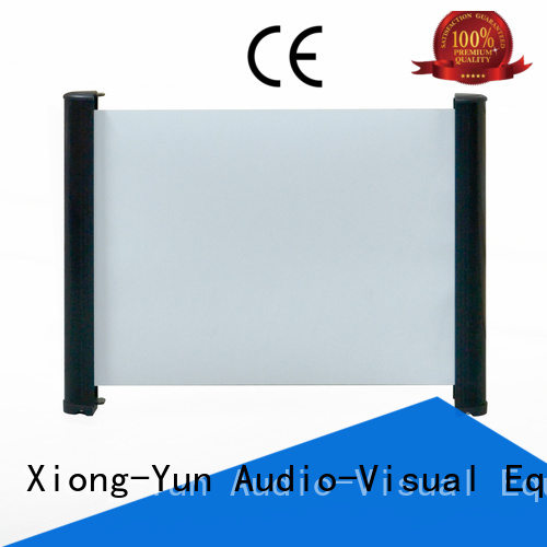 XY Screens intelligent tabletop projector screens personalized for living room