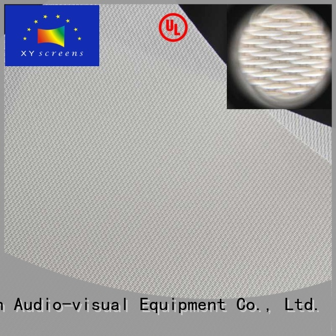 transparent 120 acoustically transparent screen customized for fixed frame projection screen