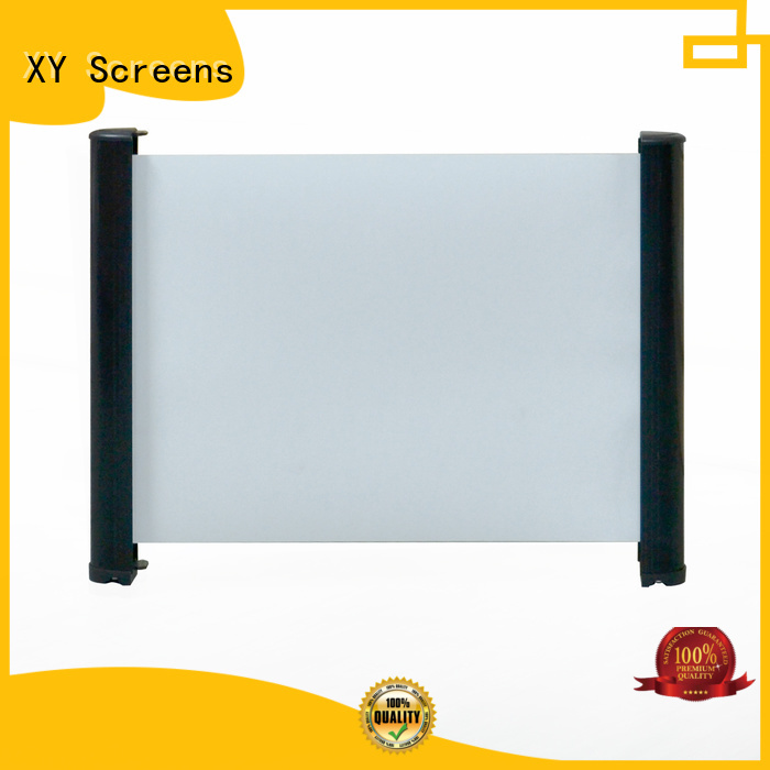 XY Screens retractable tabletop projector factory price for indoors