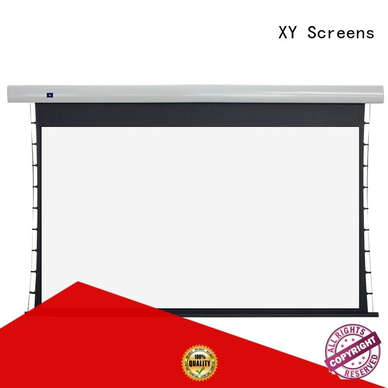 XY Screens intelligent tensioned projector screen for living room