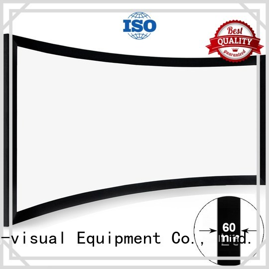 slim Home Entertainment Curved Projector Screens factory price for movies