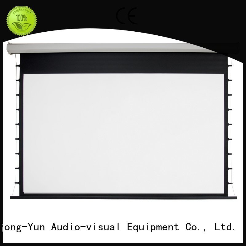 Electric Drop Down Movie Screen motorized XY Screens Brand Motorized Retractable Projector Screen