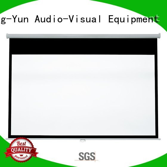 OEM pull down rear projection screen screen school down pull down projector screen