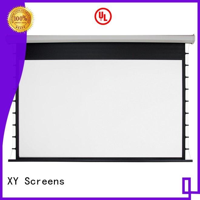 Custom Motorized Retractable Projector Screen electric drop motorized XY Screens