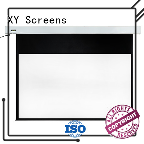 XY Screens curved Motorized Projection Screen wholesale for theater