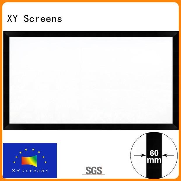 XY Screens simple shape home cinema screen design for meeting