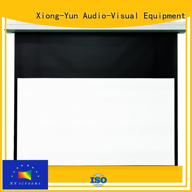 XY Screens electric fixed projector screen with good price for indoors