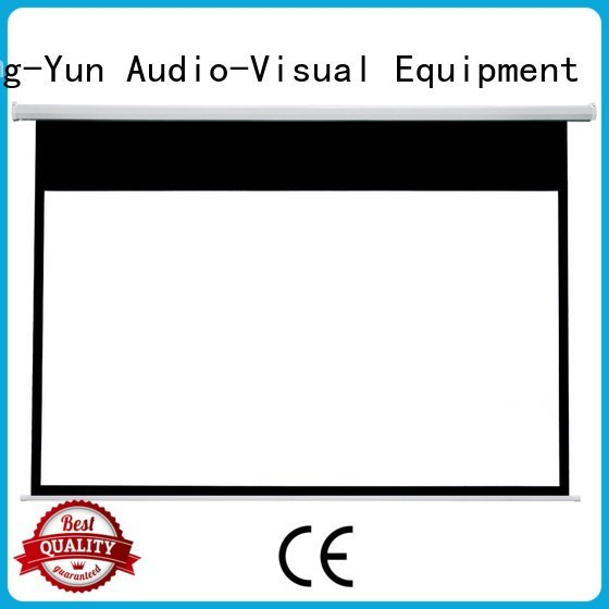Electric Drop Down Movie Screen down e300b Motorized Retractable Projector Screen