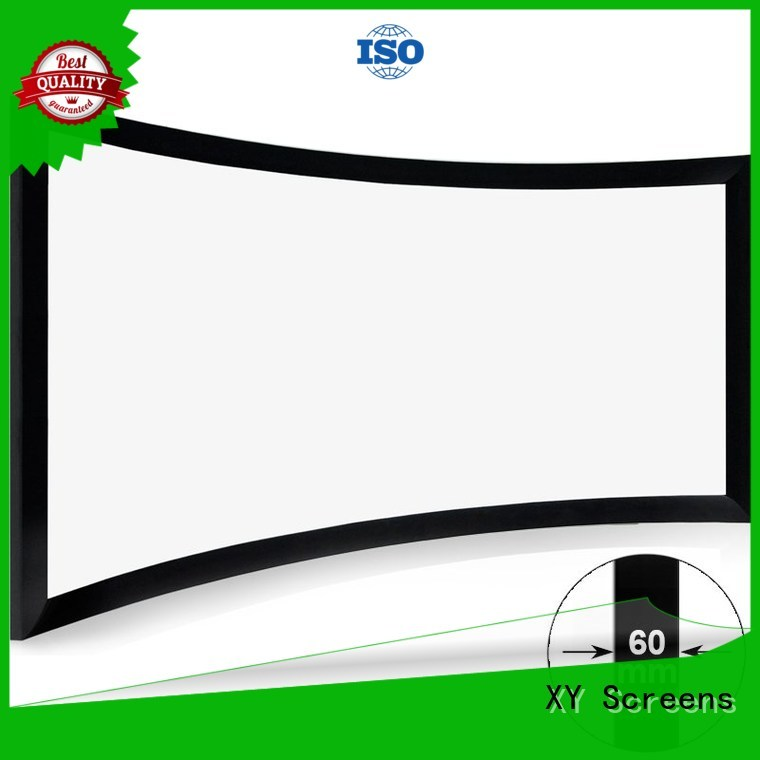 XY Screens mini Home Entertainment Curved Projector Screens wholesale for household