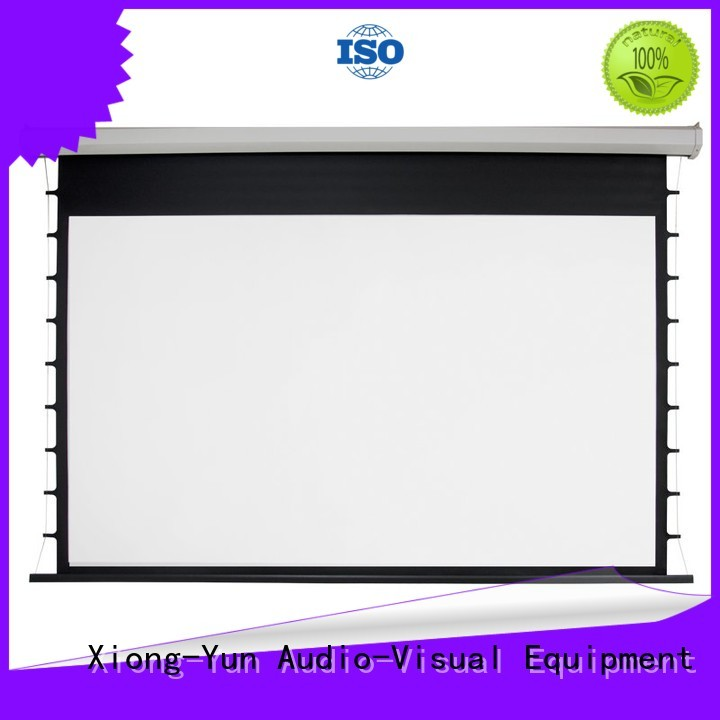 curved motorized screens supplier for theater