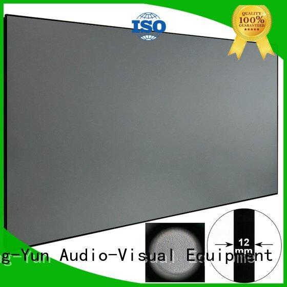 XY Screens rejecting slim bezel ambient light projector screen hg