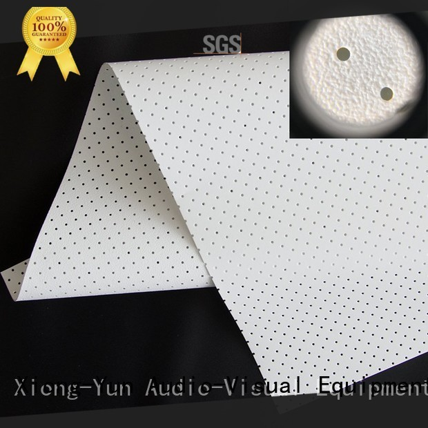 XY Screens perforating 120 acoustically transparent screen series for projector screen