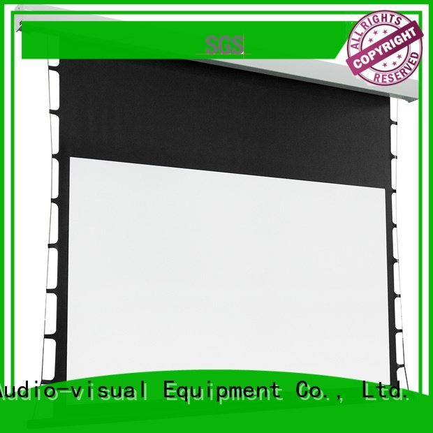 Quality tab tensioned electric projector screen XY Screens Brand screen Tab tensioned series