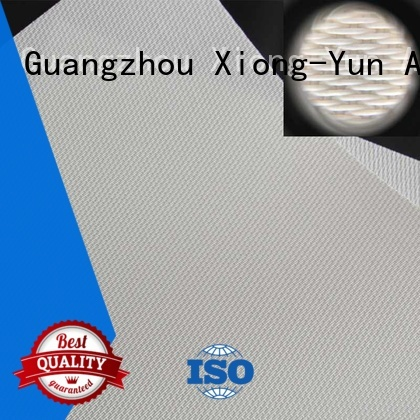 XY Screens transparent Acoustically Transparent Fabrics series for projector screen