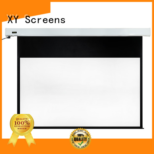XY Screens Motorized Projection Screen factory price for indoors