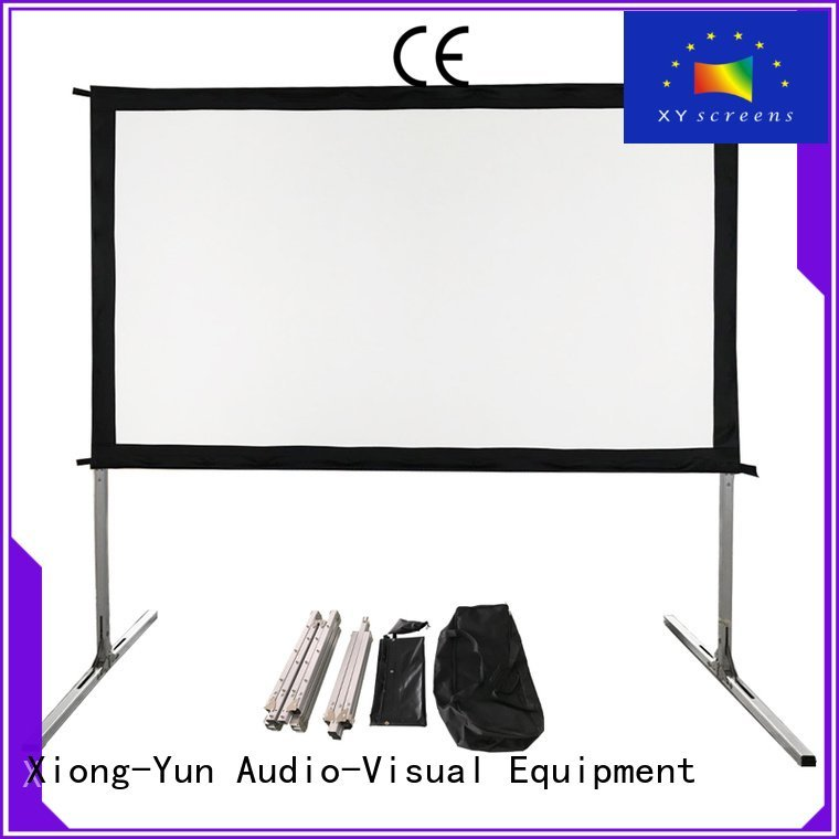 Hot outdoor pull down projector screen fold fast inch XY Screens Brand